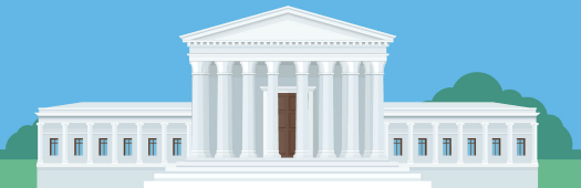 United States government clipart image of Supreme Court.