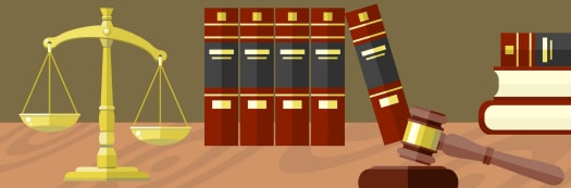 United States government and Politics Blog clip art image of law books and a gavel.