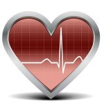 heart with ekg image