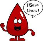 smiling drop of blood image