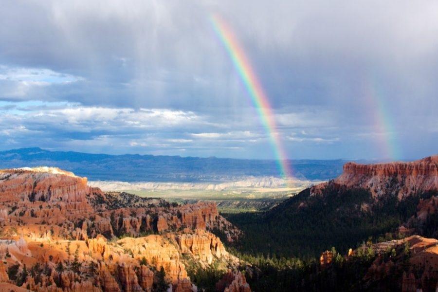 rainbow over the grand canyon